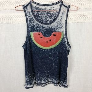 Chaser | Watermelon Bite Muscle Burnout Tee | S